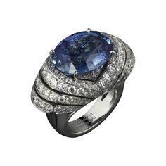 ANELLO ALTA GIOIELLERIA Cartier Platino, zaffiri, diamanti