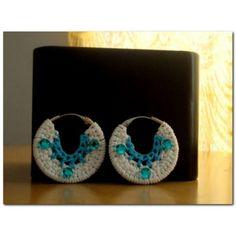Crochet beaded hoop earrings - Online Shopping for Earrings by Crochet for Charity