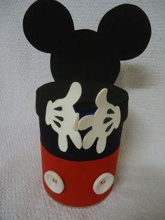 Resultado de imagem para lata de leite decorada mickey