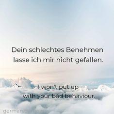 Words In Other Languages, German Grammar, German Quotes, German Language Learning, World Languages, Learn German, Korean Language, Germany, Study