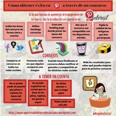 Cómo obtener éxito en Pinterest a través de un concurso #infografia #socialmedia #marketing