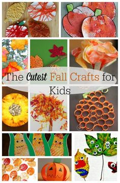 So many ideas for Fall crafts for kids! These art activities are perfect for preschoolers this autumn.