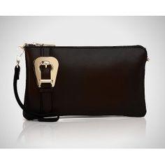 Donna Bella Designs DBLC01-BLK Genuine Italian Leather Clutch Handbag with  Remov Donna Bella 9173dd47736
