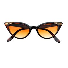 Vintage Fashion Rhinestone Tip Pointed Cat Eye Sunglasses C1130 – FREYRS - Beautifully designed, cheap sunglasses for men & women
