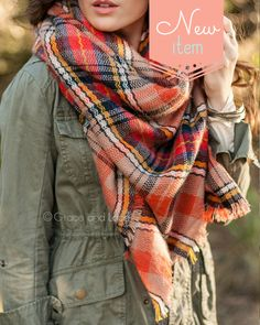 love this plaid oversized scarf for fall - must get one of these!