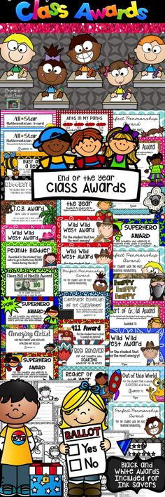 Class Awards End of the Year Fun #teachersfollowteachers #teacherspayteachers #tpt #iteachtoo #education #learning #teacherlife #teacher #teachers