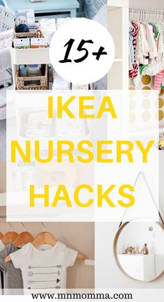 Best Ikea Nursery Hacks for your baby's nursery! Nursery ideas on a budget that … Best Ikea Nursery Hacks for your baby's nursery! Nursery ideas on a budget that you'll love! DIY your own ikea nursery hacks to make a beautiful and unique nursery! Baby Room Boy, Baby Nursery Diy, Baby Bedroom, Baby Boy Nurseries, Nursery Room, Girl Nursery, Budget Nursery, Ikea Baby Room, Diy Nursery Decor