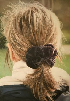 Hyperrealistic Hair Paintings by Jacques Bodin