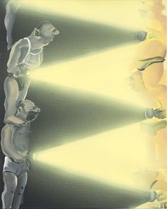 Tala Madani, Light Balance, 2013 oil on linen, 50.8 x 40.6 cm
