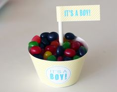 free boy baby shower printable decorations
