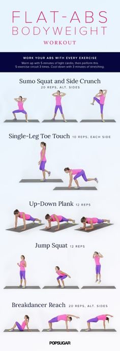 You can flatten your abs without crunches! This workout tones your entire body but with an emphasis on stre...