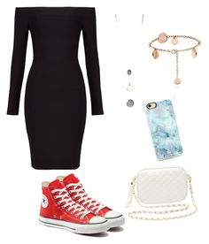 """""""Casual Night Out Look💋"""" by niamhbradley1 on Polyvore featuring BCBGMAXAZRIA, Converse, Charlotte Russe and Casetify"""