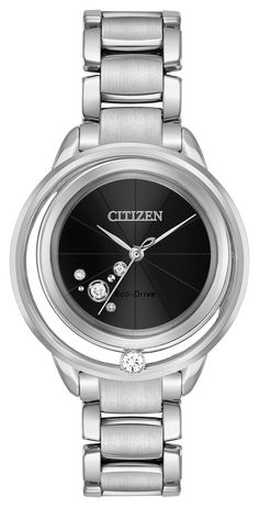 online shopping for Citizen Ladies' Citizen Eco-Drive L Sunrise Solitaire Watch from top store. See new offer for Citizen Ladies' Citizen Eco-Drive L Sunrise Solitaire Watch Stainless Steel Bracelet, Stainless Steel Case, Brand Name Watches, Citizen Eco, Beautiful Watches, Metal Bracelets, Lady, Watches For Men, Ladies Watches