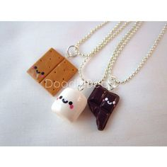 S'mores Best Friends Kawaii Cute Polymer Clay Charms Necklac ...