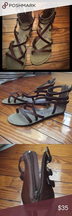 👠👠LAST CHANCE 👠👠 These are brand new, never worn gladiator sandals. Leather. Very cute! Today only! Consigning tomorrow if not sold on Posh.  😊😊 last chance. Moving & will have to consign everything. Blowfish Shoes Sandals