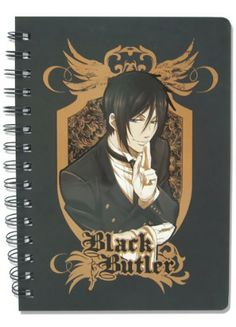 Black Butler Notebook: Sebastian I HAVE THIS!!!!!!!!!!!! *Warning, if you don't like the symbol on seb's hand and on ciel's eye, dont get it. it's on every page. i found out once i bought it....