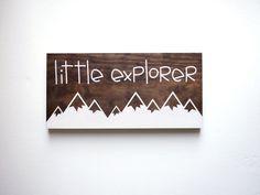 Little Explorer Sign Explore Sign Nature Nursery by HandyGerl