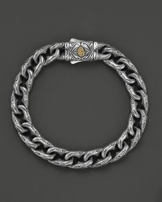Scott Kay Men's Sterling Silver Engraved Twisted Anchor Bracelet w