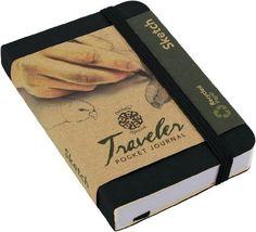 "Pentalic Traveler Pocket Journal Sketch, 4"" x 3"", Black P"