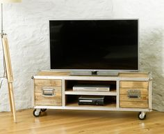 Baumhaus Roadie Chic Widescreen Television Cabinet (Two Doors) - IRC09B