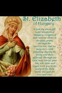 St Elizabeth of Hungary # Patron saint of bakers.