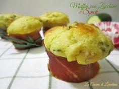 muffin con zucchine e speck