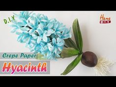 Flower Paper, Crepe Paper Flowers, Crepe Paper Rolls, Paper Video, Hyacinth Flowers, Paper Art, Paper Crafts, How To Make Crepe, Vintage Paper