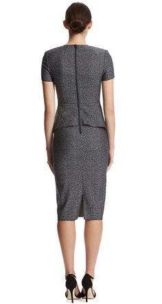 SPECKLE WEAVE PEPLUM DRESS - Dresses | SCANLAN THEODORE