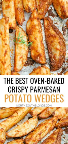 The best parmesan crusted wedges with seasoned roasted potatoes, freshly cut to perfection for the perfect dinner side dish or snack. Gluten-Free | Potato Side Dishes | Fresh Cut Fries | Potato Wedges | Rosemary | Seasoned Potatoes | Homemade Wedges | Baked Potato Wedges | Crispy Potatoes | Comfort Food | Potato Recipe |