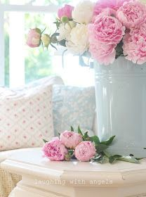 It's that time again! The peonies are blooming in the garden. I've been going out daily and picking large bouquets fo...