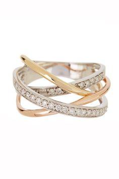 Tri-Tone Diamond Ring |  Sponsored by Nordstrom Rack. ==