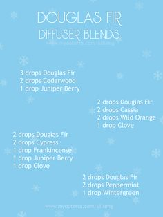 If you love doTERRA's new Douglas Fir Essential Oil as much as I do you may have been looking for more ways to diffuse it than just on its own, although that is perfectly awesome. For more ideas check out my FB group Essential Oils for Healthy Living (https://www.facebook.com/groups/328100360732721/)