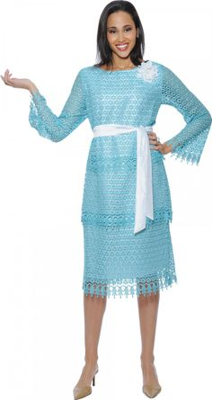 Look at this Turquoise Crochet Tie-Waist Dress - Women & Plus Church Dresses, Dresses For Work, Summer Dresses, Women Church Suits, Suits For Women, Holiday Dresses, Special Occasion Dresses, Glam Dresses, Dresses 2014