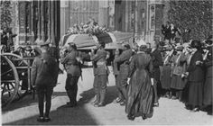 May 1919 Edith Cavell's funeral at Norwich Cathedral, Norfolk, England. Local History, British History, Edith Cavell, Norwich Cathedral, Norfolk England, Norwich Norfolk, Florence Nightingale, Uk Photos