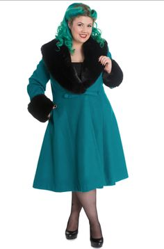 Re/Dress Online - Hell Bunny Lavish Luxe Coat- Ocean, $188.00 (http://www.redressnyc.com/copy-of-hell-bunny-lavish-luxe-coat-bordeaux/)