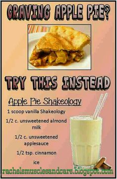 Muscles and Cars: Apple Pie Shakeology Recipe Shakeology Shakes, Beachbody Shakeology, Vanilla Shakeology, Buy Shakeology, Herbalife Shake, Protein Powder Recipes, Protein Shake Recipes, Smoothie Recipes, Healthy Recipes