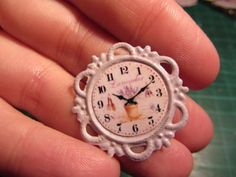 how to: lavender wall clock