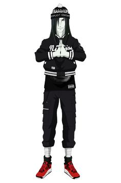 Holiday 2012 Rocksmith x HMN Aliens Winter Lookbook featuring Manga Characters From Naruto Dress