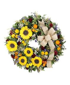 Look what I found on #zulily! Large Tuscan Sunflower Wreath #zulilyfinds