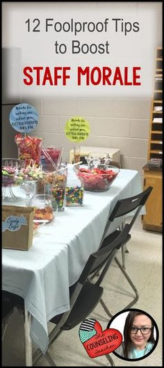 12 Foolproof Teacher Morale Boosters Like a beautiful campfire, staff morale needs to be monitored and stoked to keep the happy fires burning. Teacher Morale, Employee Morale, Staff Morale, Employee Rewards, Team Morale, Student Teacher, Staff Appreciation Gifts, Staff Gifts, Volunteer Gifts