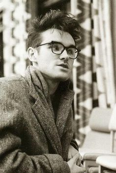"exactly the way he looked when i became a fan. morrissey was wearing his nhs ""nerd"" specs before they became trendy."