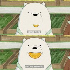 Ice Bear We Bare Bears, We Bear, Cartoon Quotes, Cartoon Pics, Cute Disney Wallpaper, Cute Cartoon Wallpapers, Cartoon Network, We Bare Bears Wallpapers, Bear Wallpaper