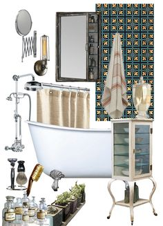 The Steampunk Home: Apothecary Bathroom Inspiration at AT