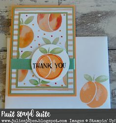 Julie Kettlewell - Stampin Up UK Independent Demonstrator - Order products 24/7: Fruit Stand Suite - Peach