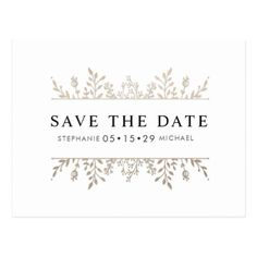 Fashionable Elegant Rose Gold Chic Save the Date Postcard - save the date gifts personalize diy cyo