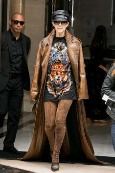 Celine Dion remerged as a style icon this year at Paris Fashion Week with the help of her new stylist, Law Roach. (Mytheresa.com, $690.)