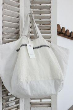 Ana & Cuca Stripe Linen Tote | white nest market
