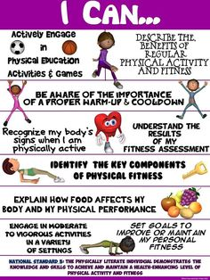 """PE Poster: """"I Can"""" Statements- Standard 3: Achieving a Higher…"""