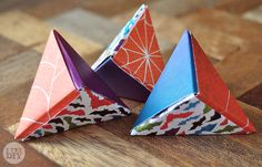 It's a Wrap: Triangle Origami Boxes | I Try DIY