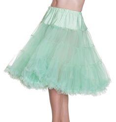 """HELL BUNNY 25"""" - 27"""" 50s Rockabilly Swing Petticoat - Pastel Mint Green"""